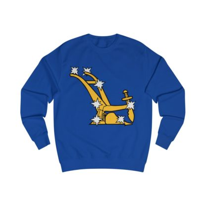 starry plough sweatshirt royal blue