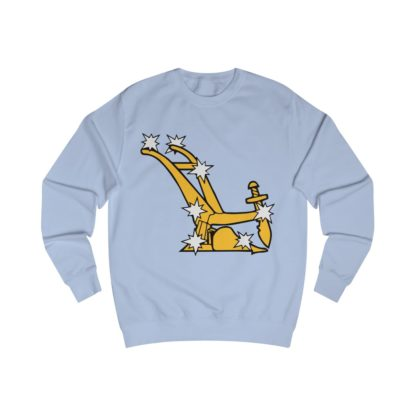 starry plough sweatshirt sky blue