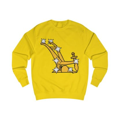 starry plough sweatshirt yellow