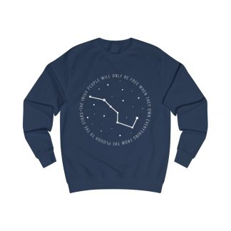 the irish people will only be free when they own everything from the plough to the stars sweatshirt blue