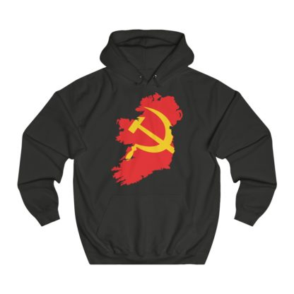 communist ireland hoodie black