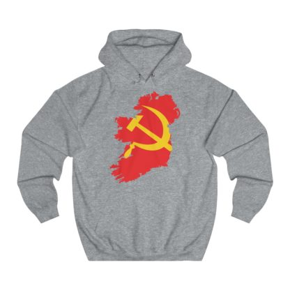 communist ireland hoodie heather grey
