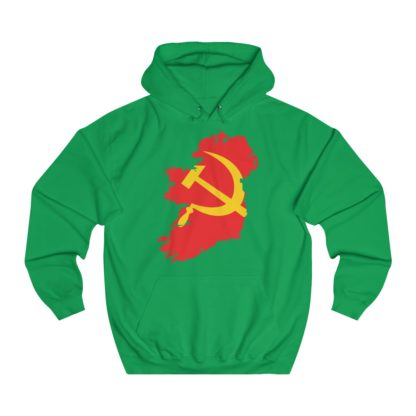 communist ireland hoodie irish green
