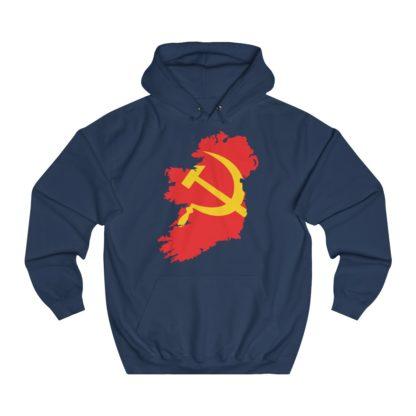 communist ireland hoodie navy