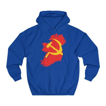 communist ireland hoodie royal blue