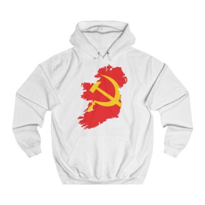 communist ireland hoodie white