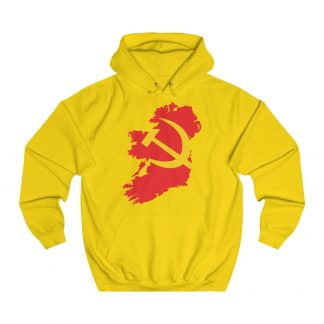 communist ireland hoodie yellow