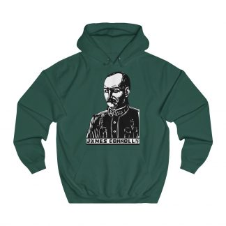 james connolly hoodie bottle green