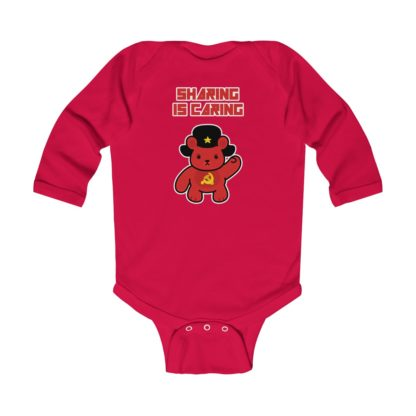sharing is caring share bear babygrow red
