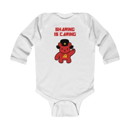 sharing is caring share bear babygrow white