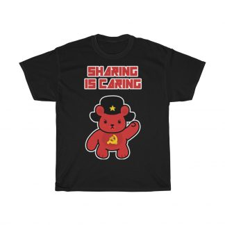 sharing is caring sharebear shirt black