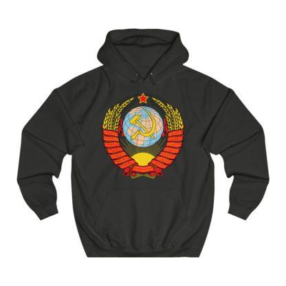 soviet crest ussr hoodie black