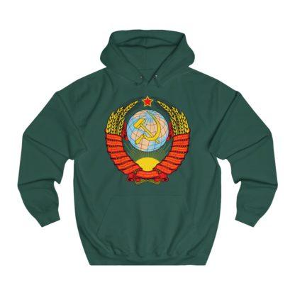soviet crest ussr hoodie bottle green