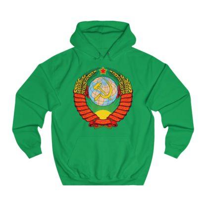 soviet crest ussr hoodie irish green