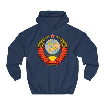 soviet crest ussr hoodie navy