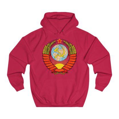 soviet crest ussr hoodie red