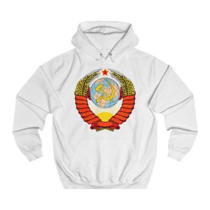 soviet crest ussr hoodie white