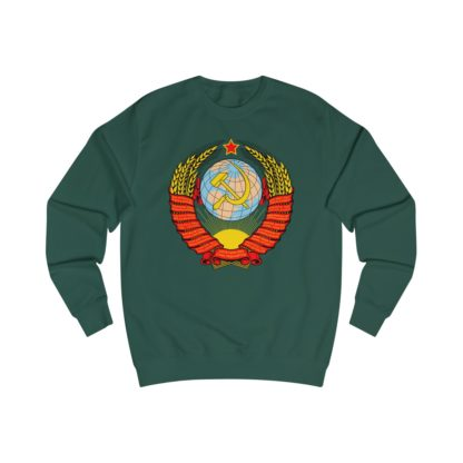 soviet crest ussr sweatshirt bottle green