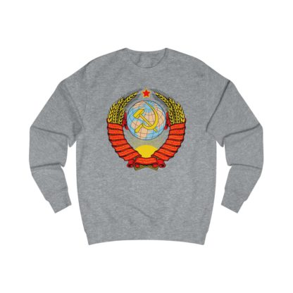 soviet crest ussr sweatshirt heather grey