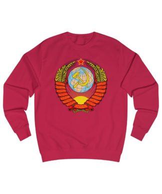 soviet crest ussr sweatshirt red