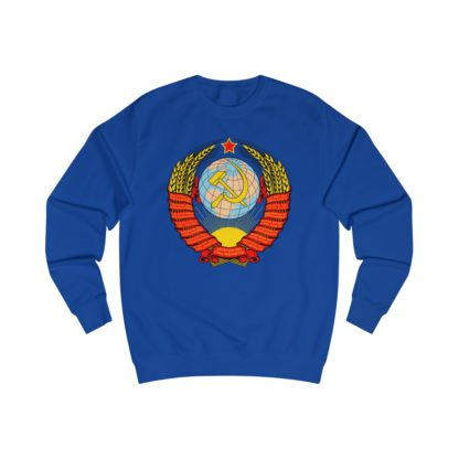 soviet crest ussr sweatshirt royal blue