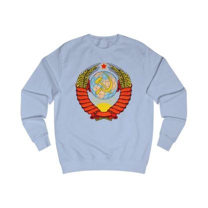 soviet crest ussr sweatshirt sky blue