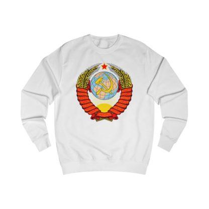soviet crest ussr sweatshirt white