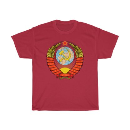 soviet crest ussr t shirt red