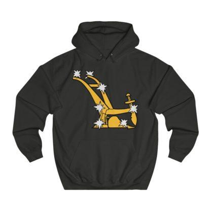 starry plough hoodie black