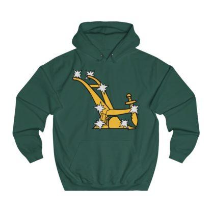 starry plough hoodie bottle green
