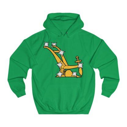 starry plough hoodie irish green