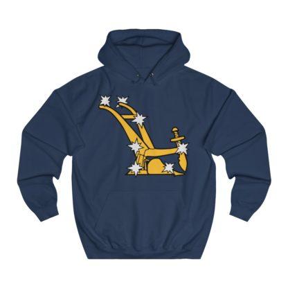 starry plough hoodie navy