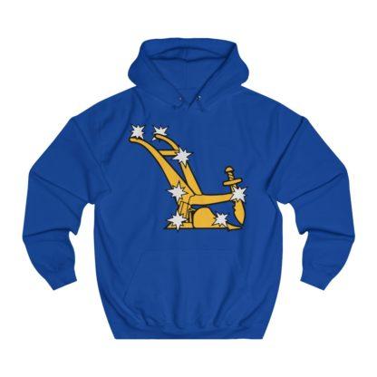 starry plough hoodie royal blue