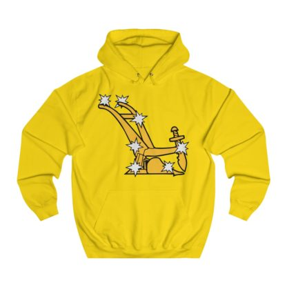starry plough hoodie yellow