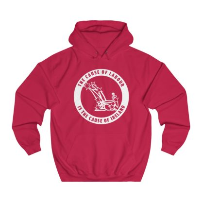 the cause of labour is the cause of ireland hoodie red
