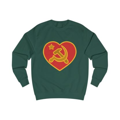 we love communism sweatshirt bottle green
