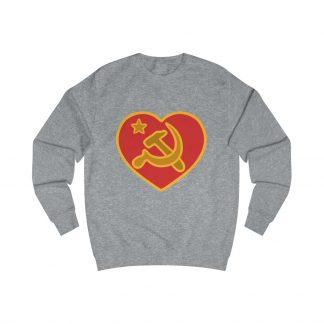 we love communism sweatshirt heather grey