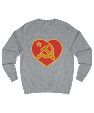 we love communism sweatshirt heather grey