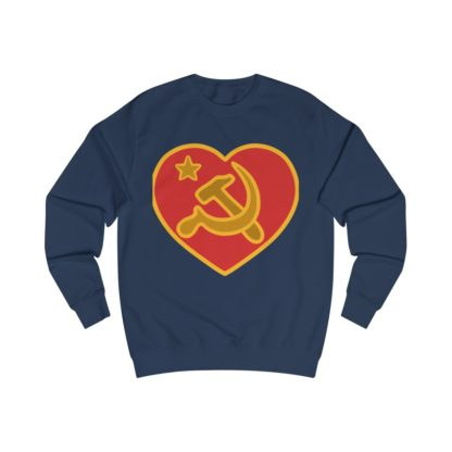 we love communism sweatshirt navy