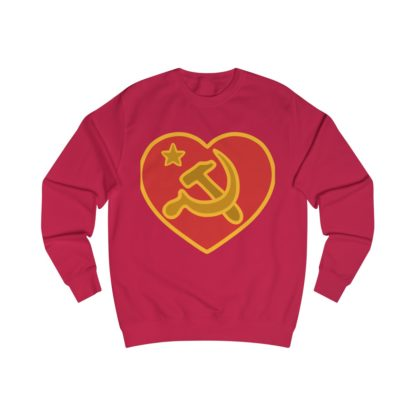 we love communism sweatshirt red