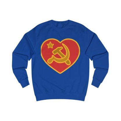 we love communism sweatshirt royal blue