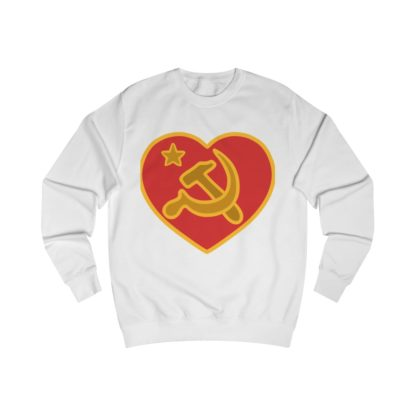 we love communism sweatshirt white