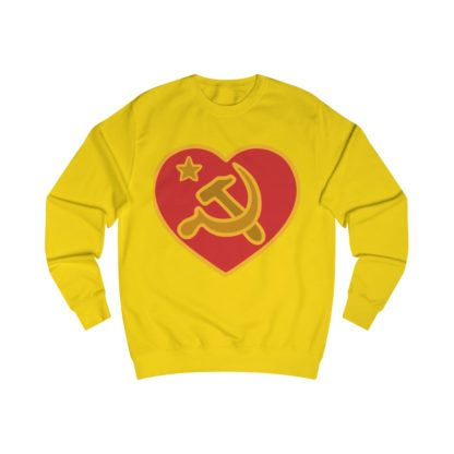 we love communism sweatshirt yellow
