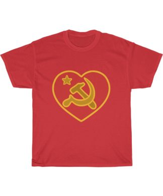 we love communism t shirt red