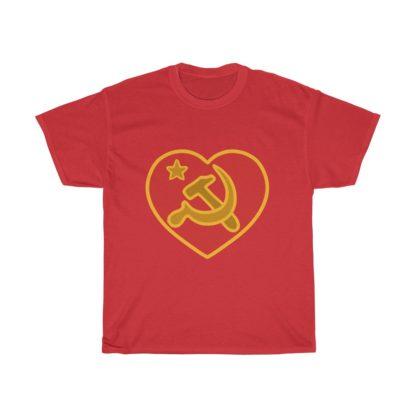 we love communism t shirt red