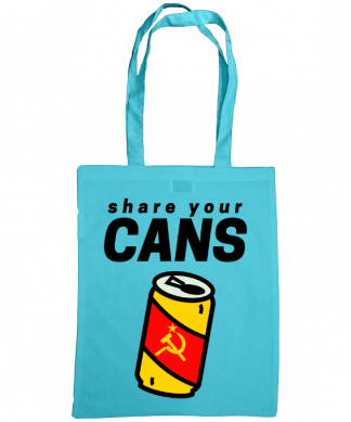 bag of cans turquoise