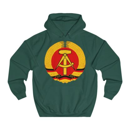 german democratic republic hoodie bottle green