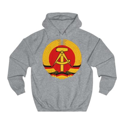 german democratic republic hoodie heather grey
