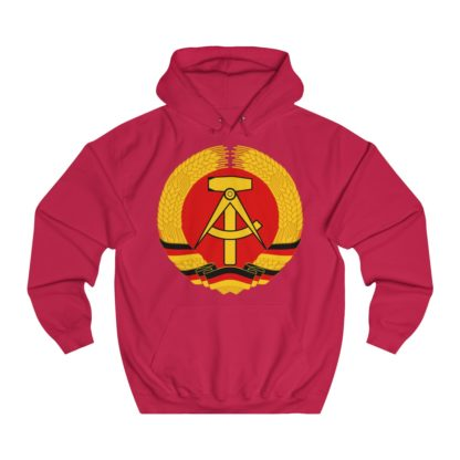 german democratic republic hoodie red