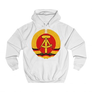 german democratic republic hoodie white